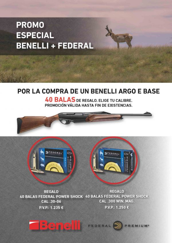 Benelli Argo E Base + Munición Federal 2018